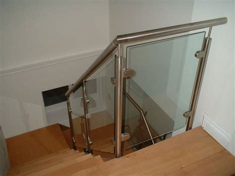 glass banister rails gorgeous interior stair railing glass founder stair