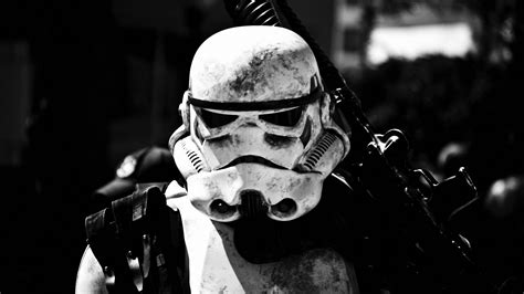 Syar I Gamis Monochrome wars stormtrooper monochrome wallpapers hd