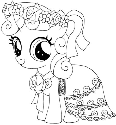 my little pony gala coloring pages coloriage my little pony sweetie belle coloriages 224