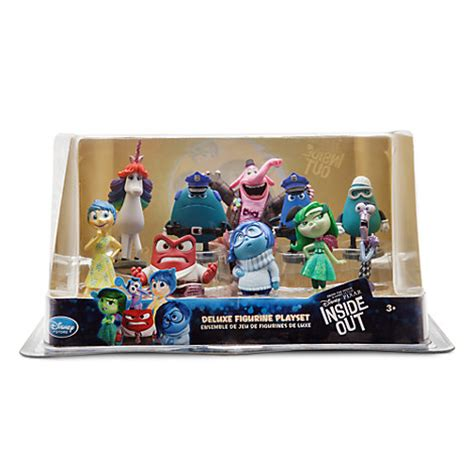 Figure Set 9pcs Inside Out authentic disney pixar inside out deluxe figurine figures cake topper play set