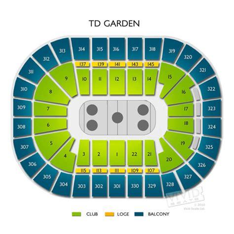 td garden seating chart concert
