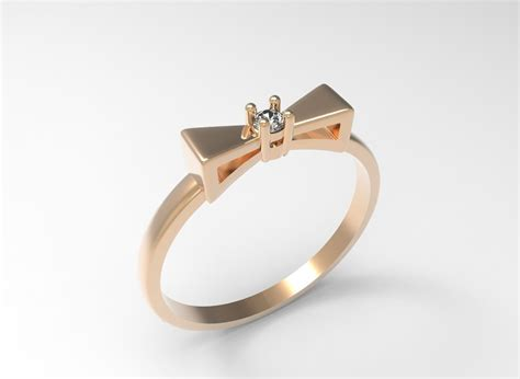 ring bow tie stl 3d model 3d printable stl