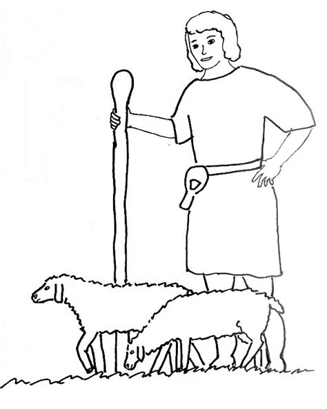 david the shepherd coloring page az coloring pages
