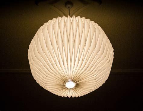 Handmade Light Shade - handmade folded origami light shade felt