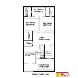 20 x 50 square home design house plan for 25 feet by 52 feet plot plot size 144