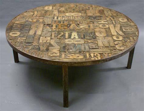 antiques atlas a decorative wooden printers block coffee table