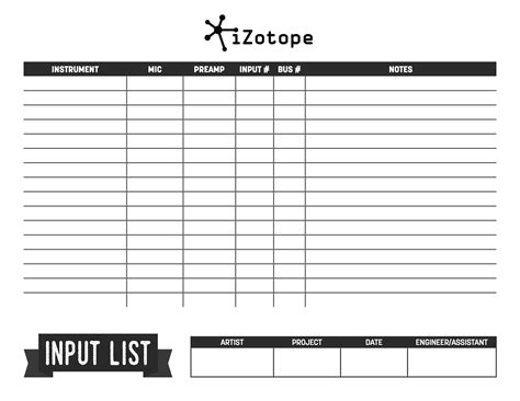 9 Tips For Mixing Jazz Recording Session Sheet Templates
