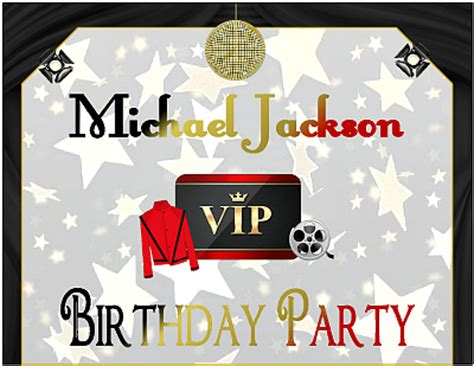 printable michael jackson birthday cards boys printable birthday party supplies cheap party