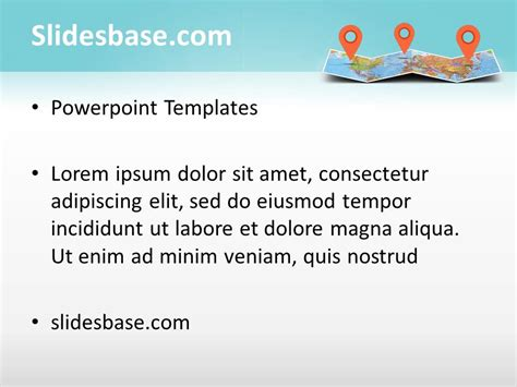themes powerpoint 2007 medical 3d folded map powerpoint template slidesbase