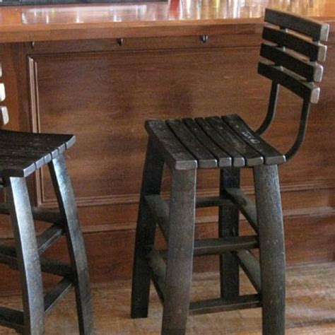 Wine Stave Bar Stools by Wine Stave Backed Bar Stools Chairs The Oak Barrel