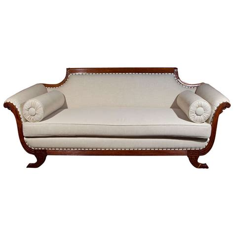 Fabulous Duncan Phyfe Style Sofa all new upholstery at 1stdibs