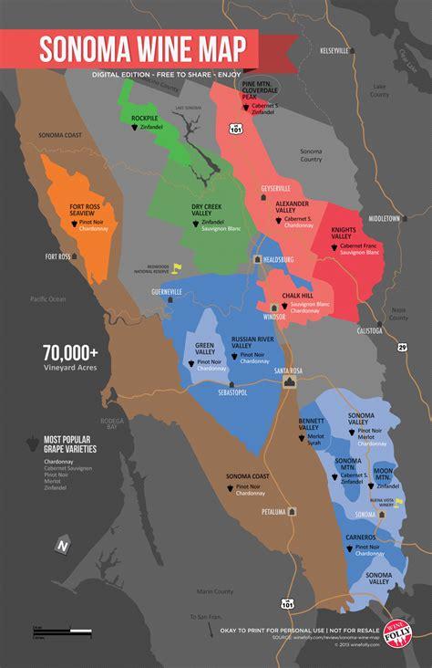 california map napa sonoma sonoma wine map poster wine folly