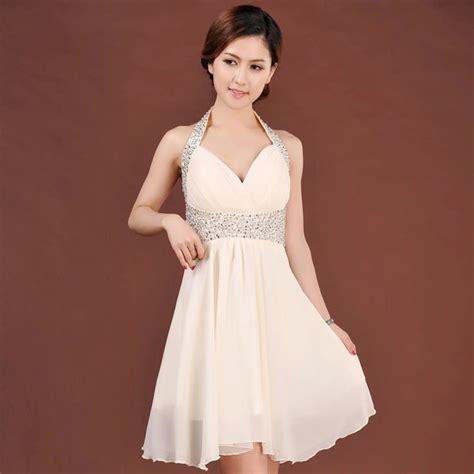 vestido novia civil corto vestido beige corto de novia civil o fiesta talla m 30