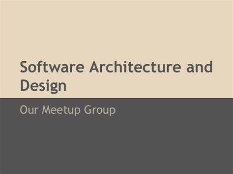 application design group software architecture design our meetup group