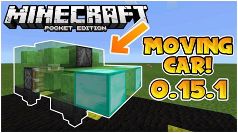 minecraft car that moves moving slime block cars in mcpe 0 15 1 easy tutorial