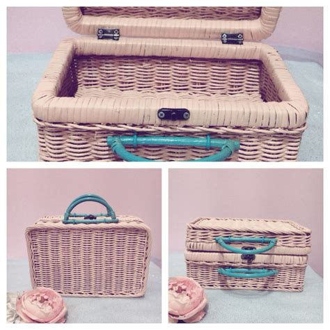 Mini Koper Custom 11 jual rattan mini luggage bag souvenir her box tas