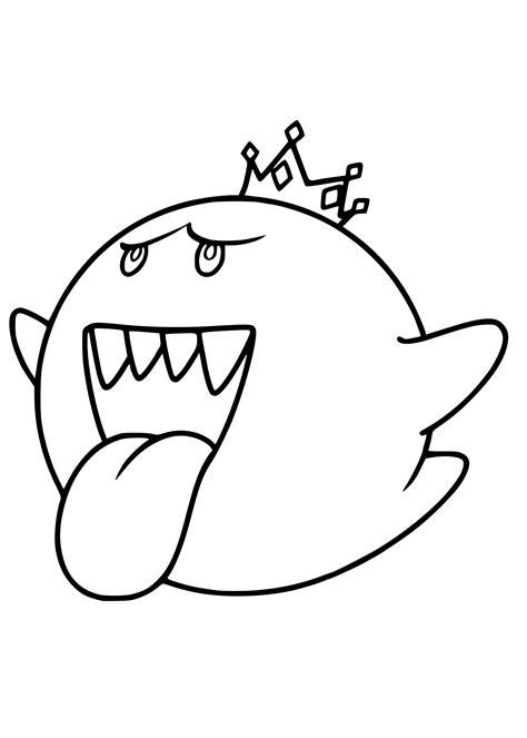 Coloriage Fantôme Mario à imprimer sur COLORIAGES .info