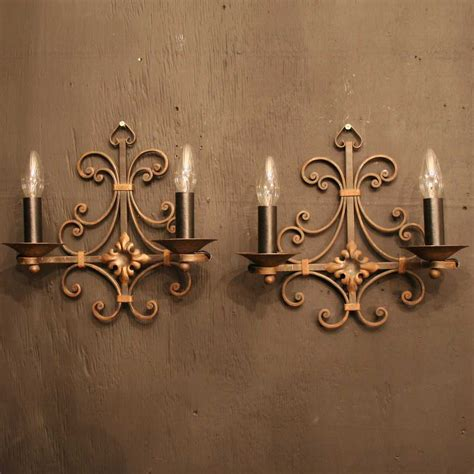 antique lights antiques atlas pair of wrought iron antique wall