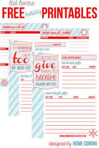 christmas planner free printables round up