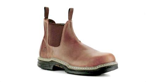 steel toe slip on work boots s wolverine w02410 steel toe slip on work boot steel