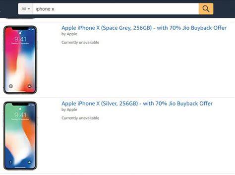 amazon iphone x apple iphone x out of stock on flipkart amazon india
