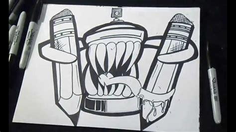 graffiti tekenen come disegnare bombola spray graffiti