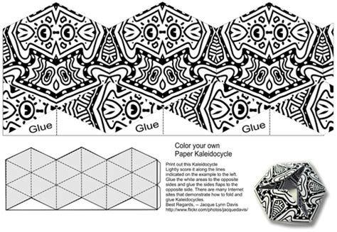 Make Your Own Color Paper - make your own kaleidocycle and color origami template