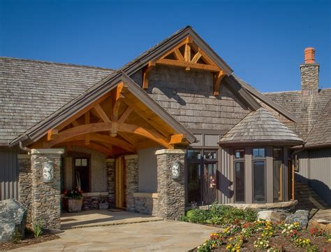False Roof House Plans timber frame entryways