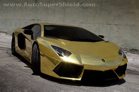 gold chrome lamborghini auto supershield is bringing luxury chrome paint wraps to