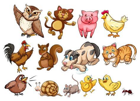 scarica clipart gratis diversi tipi di animale da fattoria e illustrazione di