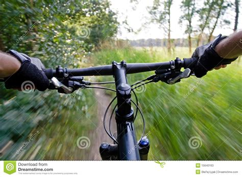 Grip Karet 3 Tone Fast Rider mountain bike motion blur stock image image