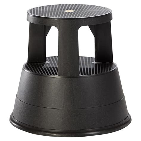 Plastic Step Stools At Lowes by Shop Xtend Climb 2 Step Black Plastic Step Stool At