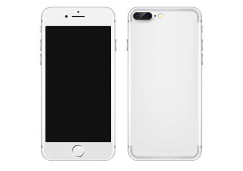 White Mobile Phone Vector Template Vector Free Download Phone Template