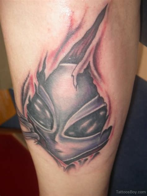 alien head tattoo tattoos designs pictures page 10
