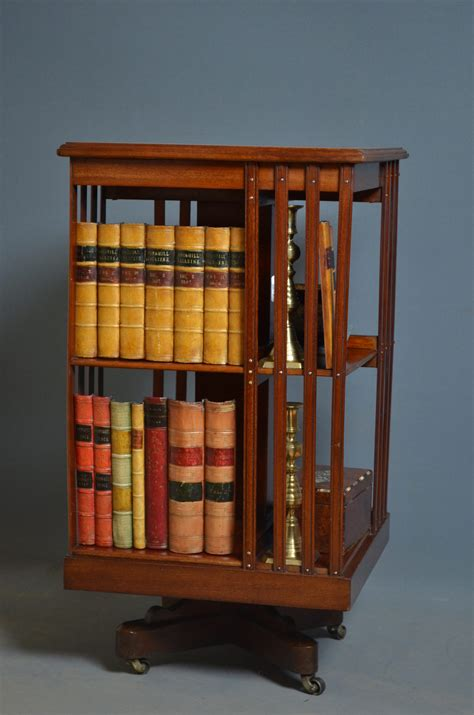 Edwardian Revolving Bookcase Antiques Atlas Revolving Bookshelves