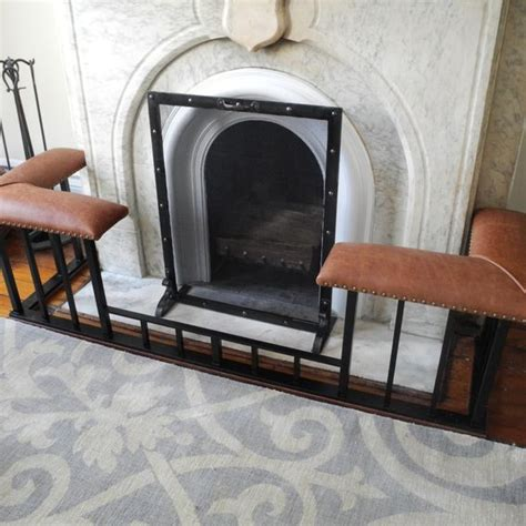 fireplace fender bench handmade fire screens and club fender benches by old