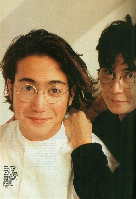 Sean Lennon & Yoko Ono   music life ?   Pinterest   Sean o