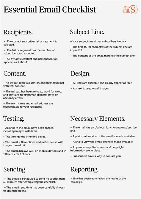 email checklist template the bare bones essential checklist for sending solid email
