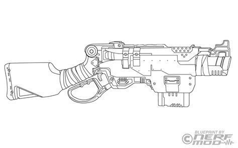 every nerf gun free colouring pages