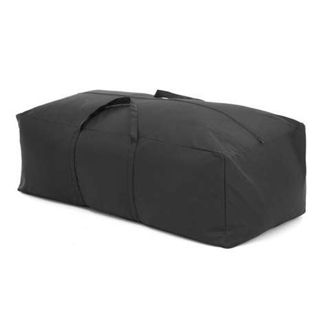 Black Waterproof Large Cushion Storage Bag Cover Garden