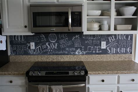 Chalkboard Backsplash | john melanie chalkboard backsplash