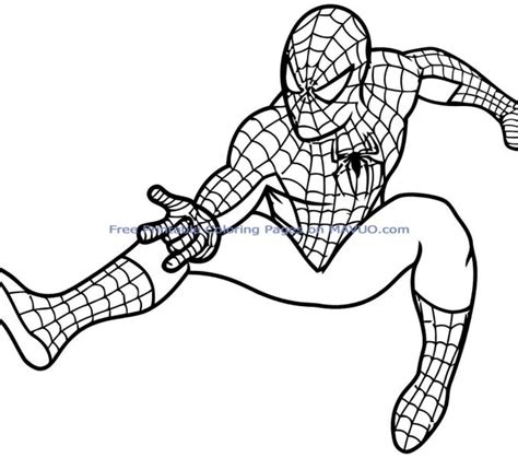 printable colouring pages for kids superheros kids