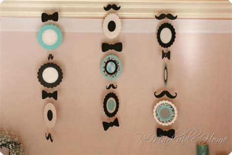 Mustache And Tie Baby Shower Decorations mustache baby shower baby shower decorations