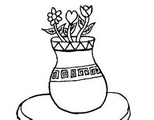 dibujo de jarr 243 n con flores para colorear dibujos net