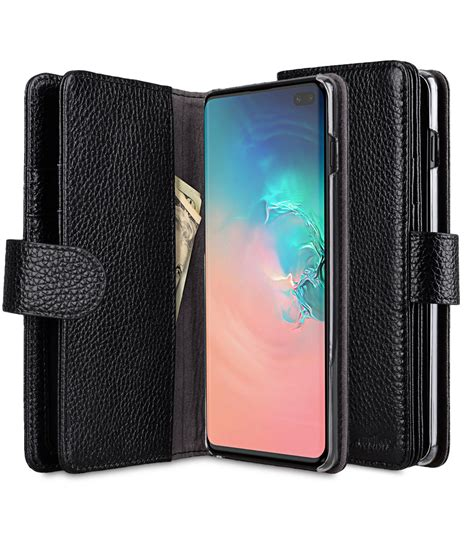 premium leather wallet plus book type for samsung galaxy s10
