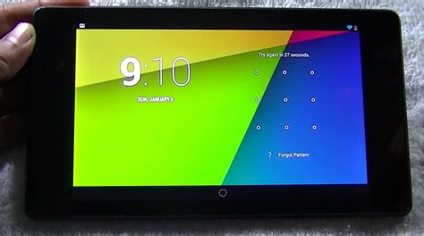 reset android tablet forgot password nexus 7 2013 pattern forgot unlock in easy steps youtube