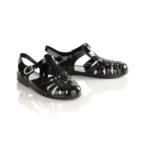 Sandal Jelly Zurarah Sandal Slop Flat Jelly Shoes Sepatu Sandal wopmens black flat jelly sandals