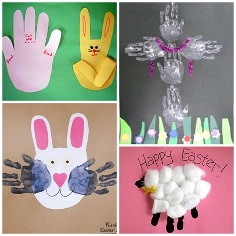 easter projects easter handprint and fingerprint crafts for kids crafty