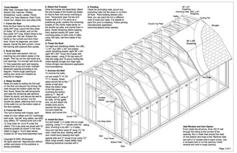 12x20 Shed Plans Free by 12x20 Barn Storage Shed Plans Buy It Now Get It Fast Ebay