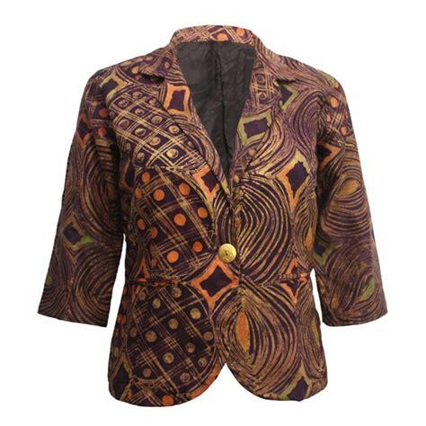 Blazer Batik Brown Batik Blazer Urbanknit